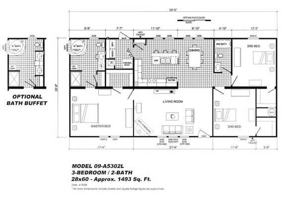 Marlette Mobile Home 16x80 Floor Plans House Design And